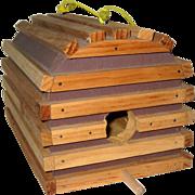 Hand Made Wooden Lobster Trap Bird House