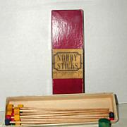 Milton Bradley Vintage Game - Nobby Sticks