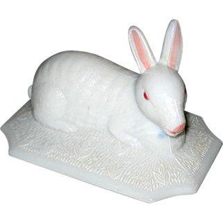Westmoreland White Easter Bunny Rabbit Dish- Top Only