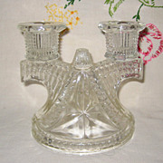 "Federal Glass ""Wigwam"" Depression Glass Candle Holder"