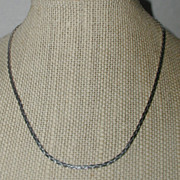Monet Classic Silver-tone Flat Chain Necklace