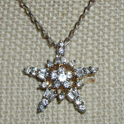 Sterling and Cubic Zirconia Star Pendant