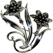 Sterling Silver Lily Pin or Brooch