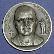 Nebraska Silver Statehood Medal - Father Flanagan