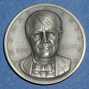 New Jersey Silver Statehood Medal - Thomas Edison