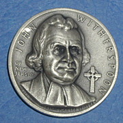 Declaration of Independence Medal - John Witherspoon of New Jersey