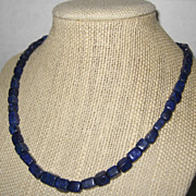 Natural Lapis Lazuli Necklace with Gold Plated Clasp