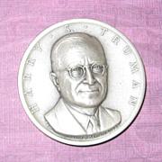 Silver Presidential Medal - Harry S. Truman
