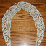Handmade Victorian Brussels Mixed Lace Collar