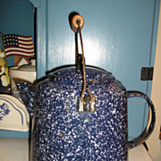 Speckled Blue Graniteware Coffee Pot