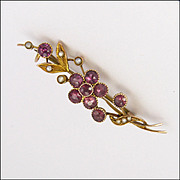 14 K and Pink Tourmaline Floral Pin - Boxed  - COOKE & KELVEY