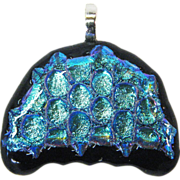 Jellyfish Dichroic Fused Glass Pendant Component w/ Bail – Ready to String