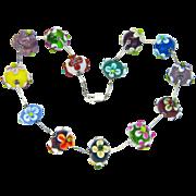 SALE Lampwork Flowery Glass Bead Choker from Sweetpea Cottage  Studio