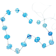 Summery Sky Blue & Aquamarine Lampwork Glass Bead Suite from our Hot Glass Shop at Sweetpea Co