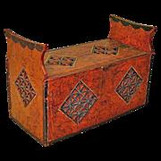 Museum Quality Grain Painted Norwegian Storage Box, Ca. 1850