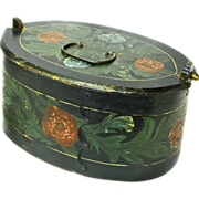 Folk Art  Paint Decorated Norwegian Tine, Late 1800's