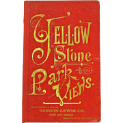 SALE Yellowstone National Park View Book, Gordon-Lewis Co, Butte, MT, Ca 1880.