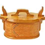 SALE Norwegian Style Quartersawn Cherry Tine Bent Wood Box, Artisan Crafted at Sweetpea Cottag