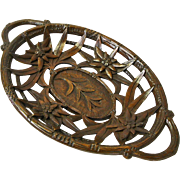 Black Forest Carved Edelweiss Bread Tray