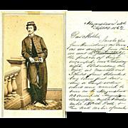 Observations of Battle of  Antietam, 7th Regiment, Pennsylvania Militia, Civil War Letter to M