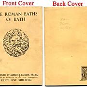 1940, Roman Baths, Bath, England, Travel Souvenir Booklet, Archeology
