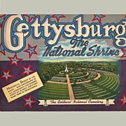 Gettysburg, The National Shrine, Souvenir Booklet, 1952