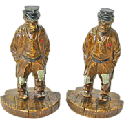 Syroco Hobo Bookends, Ca. 1930-40