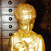 Fine bronze statue Neoclassical Woman--Maclean