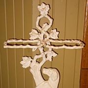 Antique Colebrookdale style cast iron dog umbrella cane holder