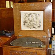 Quartered oak Criterion music box-15 1/2 discs