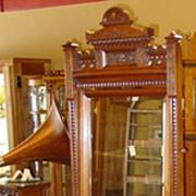 Walnut Victorian carved lingerie chest lockside