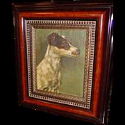 Oil on canvas Jack Russell terrier dog Alfred Weczerzick