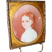 Miniature portrait of a young girl---circa 1840