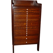 Neat 16 drawer oak cabinet-end table-night stand-collector's cabinet