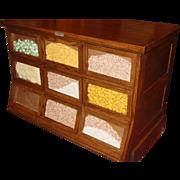 9 drawer oak seed bean cabinet counter Sherer