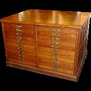Quartered oak 44 drawer partners file work cabinet