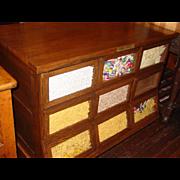SHERER 9 drawer oak seed bean cabinet counter