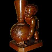 Small bronze Cherub E. Barrias, Barbedienne foundry