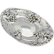 BIRKS Repousse Sterling Silver Dish With Grapes