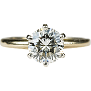 Solitaire Diamond Ring 14k Gold Wedding Engagement Ring 1.05ctw