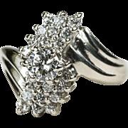 Art Deco .53ctw Diamond Bypass Ring 14k Gold