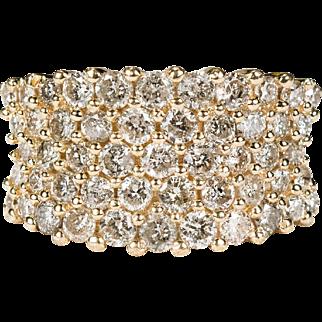 1.62ctw Diamond Ring 14k Gold 5 Row Stacking Diamond Band Engagement Ring