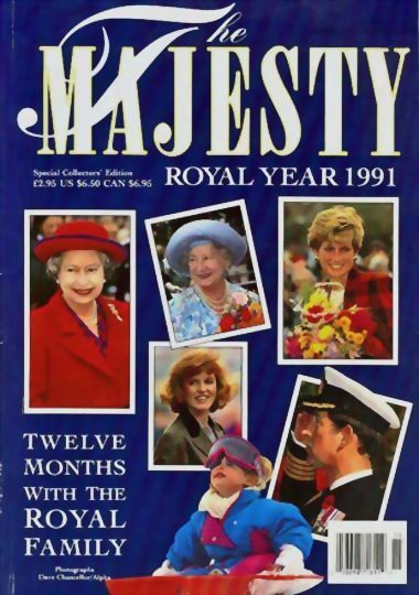 Majesty Magazine Royal Year 1991 Royal Family 'Princess Diana' - Dave Chancellor Photographs, Special Issue