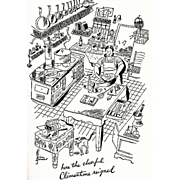 1963 'Clementine In The Kitchen' Cookbook, DJ, Samuel Chamberlain Art,  RARE Anniversary Edition, French Cooking