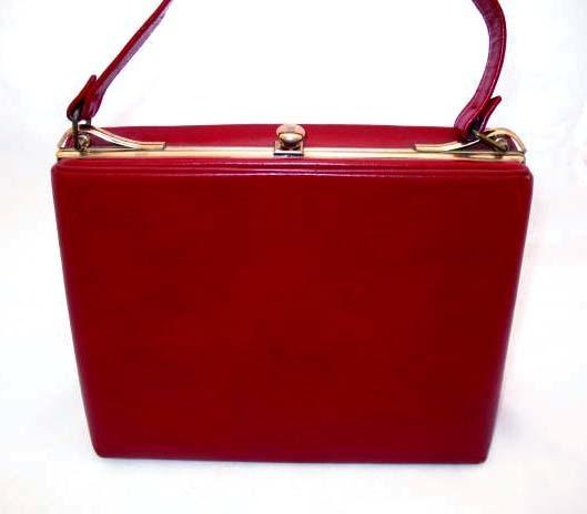 STYLISH Vintage Red Leather Purse – MAD MEN Fashion