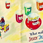 """1951 'General Foods' What Makes Jelly """"Jell""""? Cookbook, Illustrated, Canning, Advertising, RARE"""