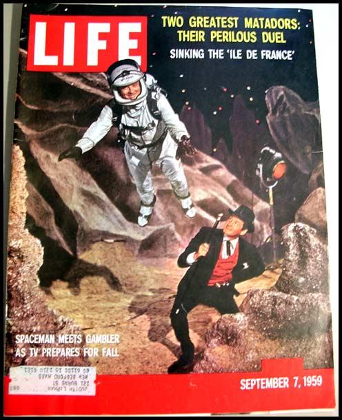 Vintage Sept 7, 1959 LIFE Magazine NASA -Gene Barry / Bill Lundigan /  Bernstein