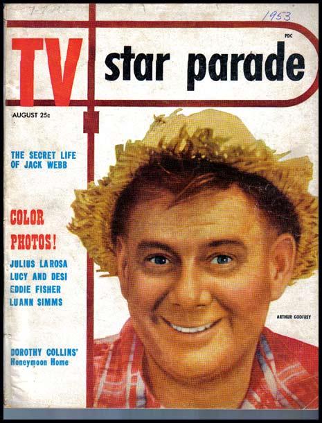 RARE August, 1953 'TV Star Parade' Magazine - Lucille Ball / Desi Arnez / Eddie Fisher /  Vintage / ENTERTAINMENT