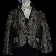 1960's Gold & Black Oriental Silk Jacket  sz 16