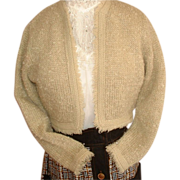 1950's Curly Mohair Shorty Sweater